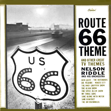 T1771 - Route 66 Theme and Other Great TV Themes - Nelson Riddle & His Orchestra on CD