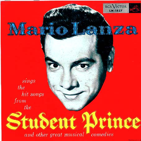 LM1837 - Student Prince and Songs from Other Great Musical Comedies sung by Mario Lanza on CD