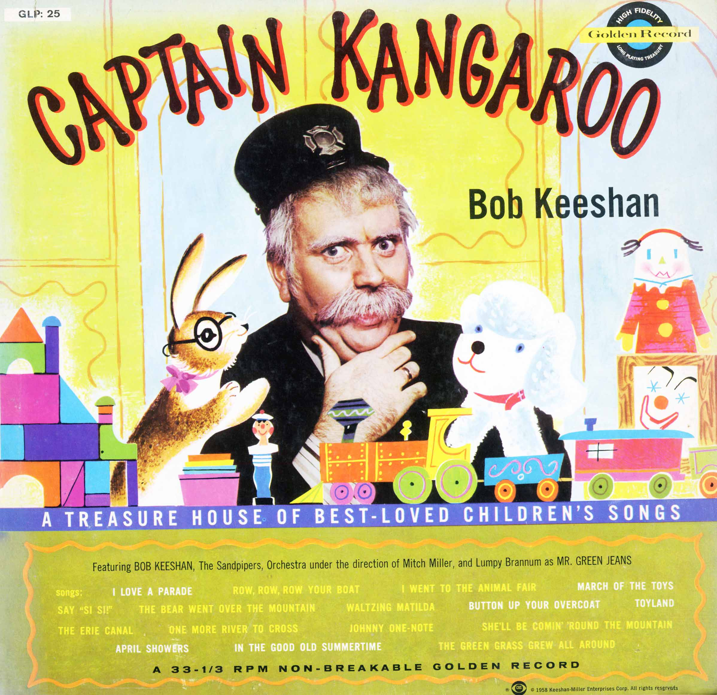 LP25 - Captain Kangaroo - Bob Keeshan on CD