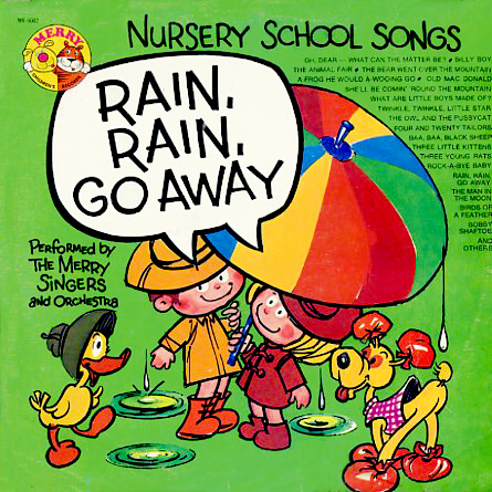 MR6002 - Nursery School Songs Rain Rain Go Away on CD