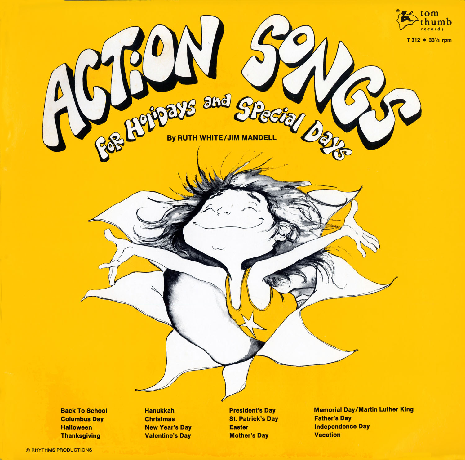 T312 - Action Songs For Holidays and Special Days on CD