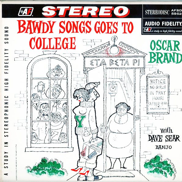 AFSD5952 - Brand, Oscar - Bawdy Songs Goes To College - on CD