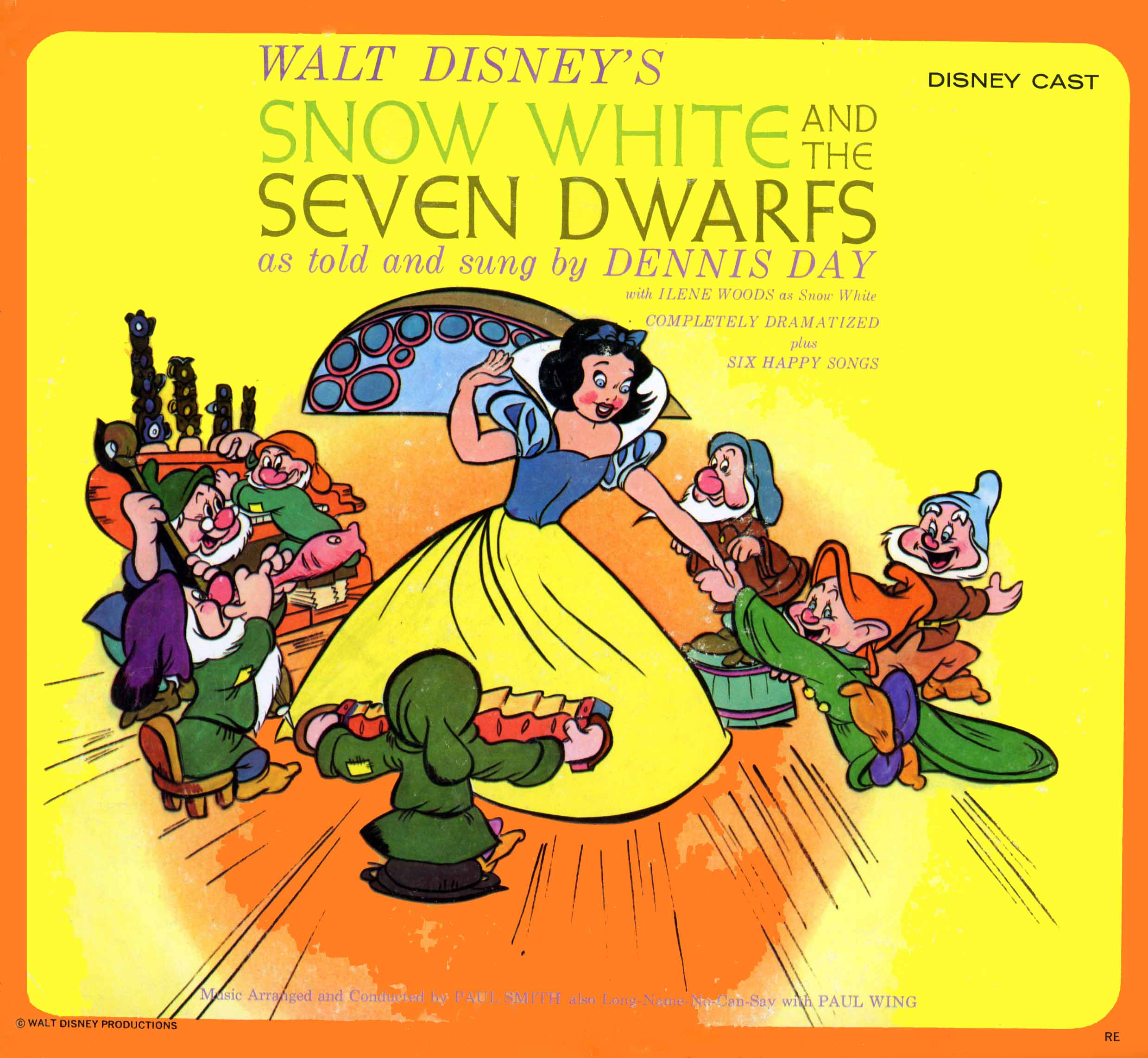 CAL1044 - Snow White and the Seven Dwarfs - Dennis Day - Disney on CD