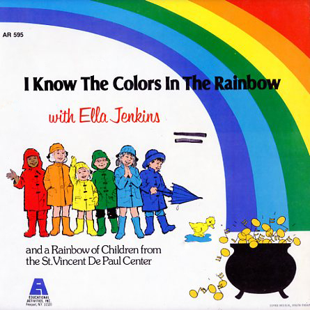 AR595 - I Know The Colors In The Rainbow with Ella Jenkins on CD