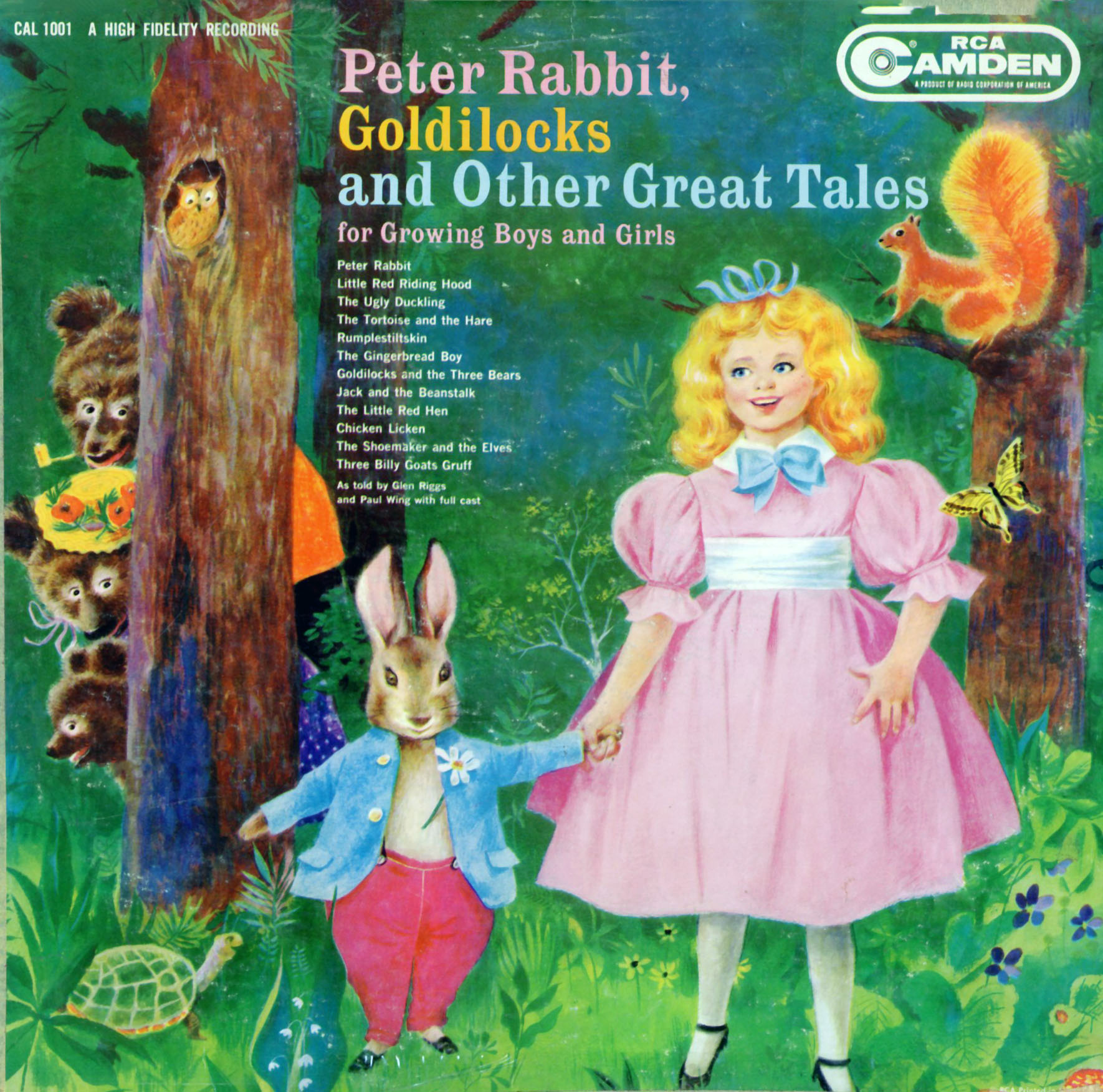 CAL1001 - Peter Rabbit, Goldilocks and Other Tales for Growing Boys and Girls on CD